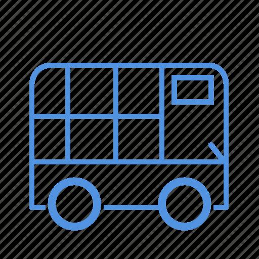 bus, city, floors, two icon