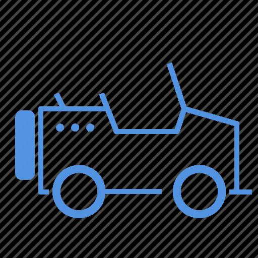 car, four, jaba, open, wheels icon