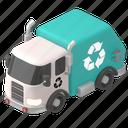 transportation, vehicle, garbage, truck, transport, road, map