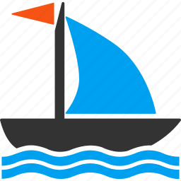 boat, sail, sailboat, sailing, sea cruise, ship, yacht icon