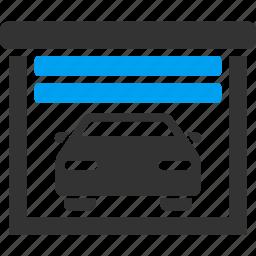building, car service, garage, hangar, parking, repair, workshop icon