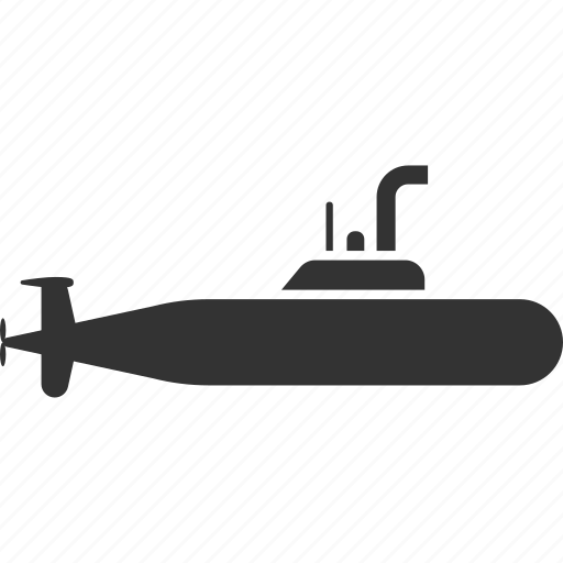 military submarine, navy, periscope, ship, transport, underwater, vessel icon