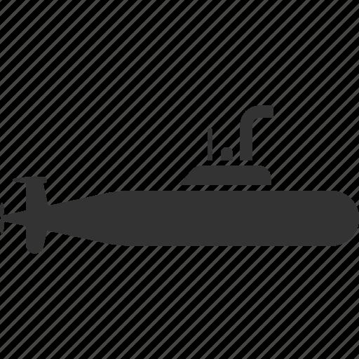military submarine, navy, periscope, ship, transport, underwater, vessel icon