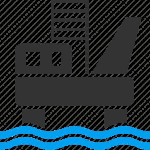 derrick, drilling, industry, oil platform, petrol, petroleum, technology icon