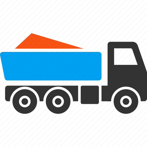 delivery, dump truck, garbage transportation, hopper, tip lorry, tip truck, tipper icon