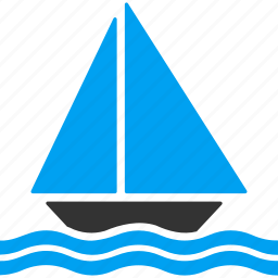 boat, sail, sailing, sea cruise, ship, vessel, yacht icon