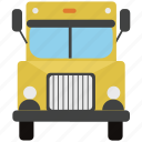bus, delivery, delivery truck, lorry, school bus, transport, truck