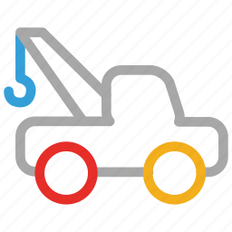 tow, transport, truck, vehicle icon