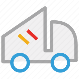 dump, garbage lifter, transport, truck icon