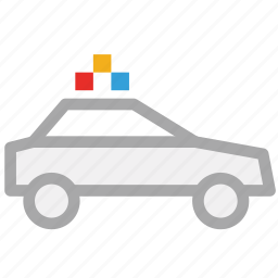 police car, security car, transport, vehicle icon