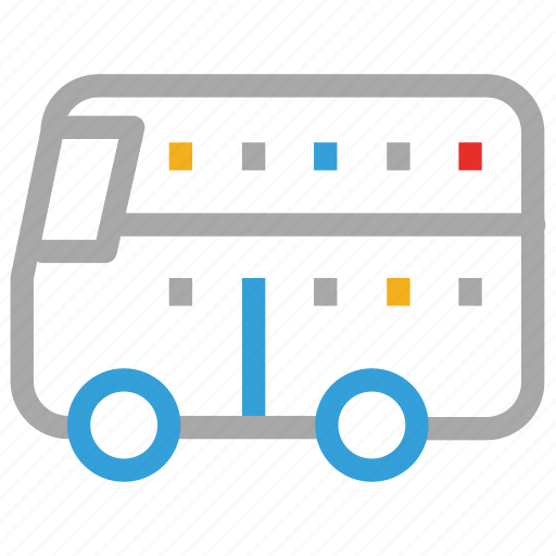 double decker, double decker bus, transport, vehicle icon