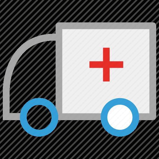 ambulance, medical, transport, vehicle icon