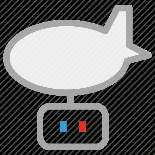 aircraft, airship, zeppelin, zeppelin airship icon