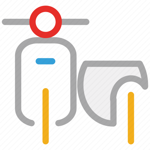 motorbike, motorcycle, scooter, transport icon