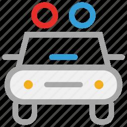 automobile, car, metro police car, security car icon