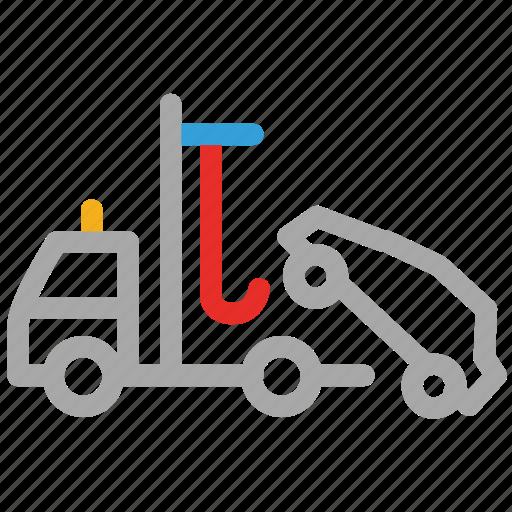 car lifter, car lifting, lifter, lifting truck icon