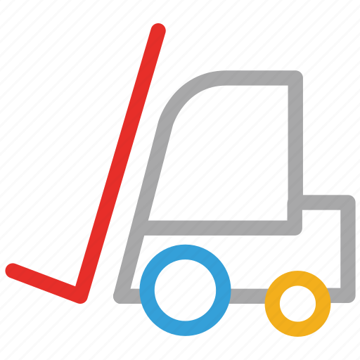 delivery, forklift, lifter, vehicle icon