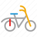 bicycle, cycle, cycling, transport icon