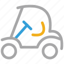 electrical, golf car, golf cart, transport icon