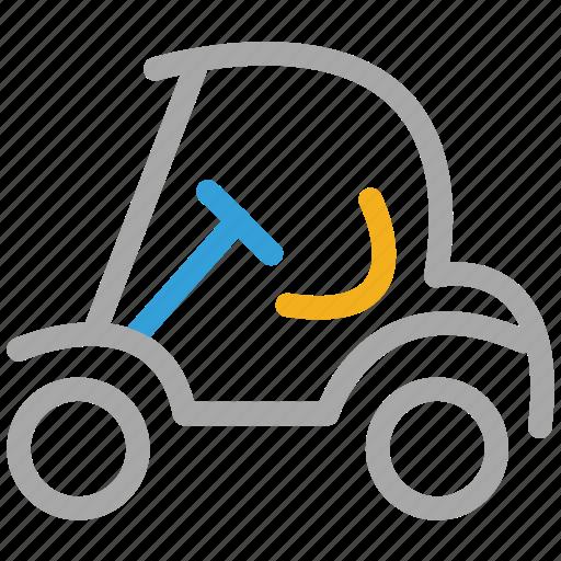 electrical, golf car, golf cart, transport icon