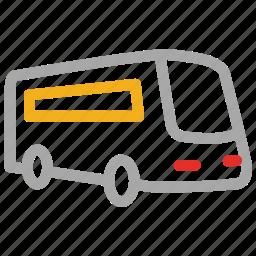 bus, transport, travel, vehicle icon