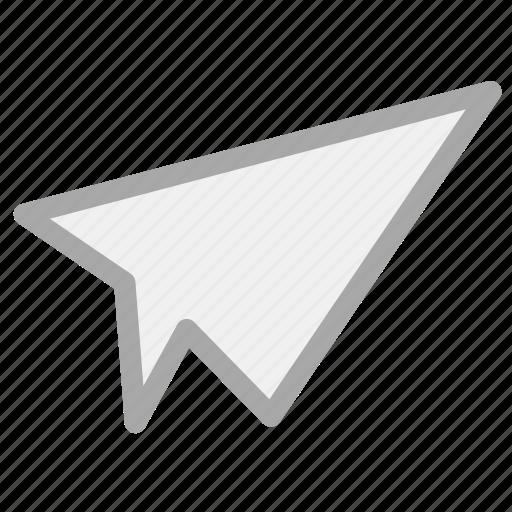 paper aeroplane, paper airplane, paper jet, paper plane icon