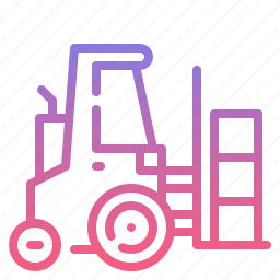 forklift, logistic, transport, warehouse icon