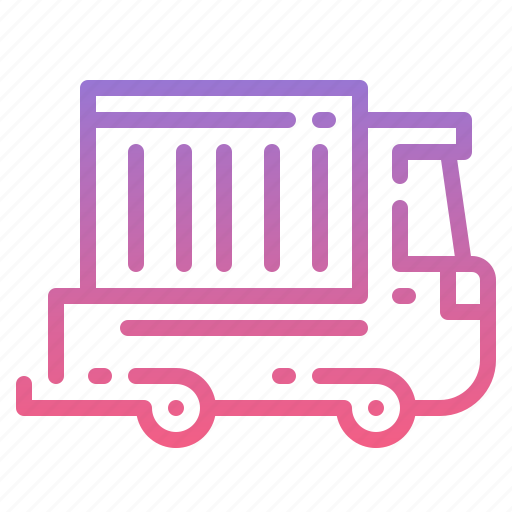 shipping, trailer, truck, van icon