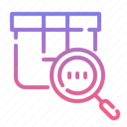 code, magnifier, number, tracking icon