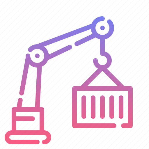building, constructing, crane, transport icon