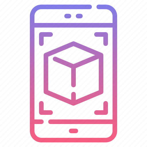 code, magnifier, mobile, tracking icon
