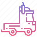 trailer, transport, truck, vehicle icon