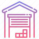 building, garage, storage, warehouse icon