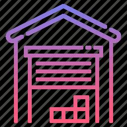 building, garage, storage, warehouse icon