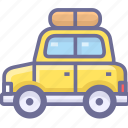 auto, car, itinerary, journey, route, trip icon