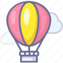 fire balloon, journey, tour, tourism, travel, trip icon