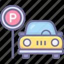 auto park, car park, park icon