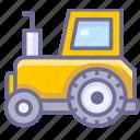 tractor, transport, transportation icon