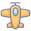 aeroplane, aircraft, airplane, plain icon