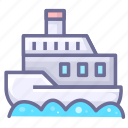 ship, steamboat, steamship icon
