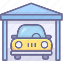 auto, barn, car, garage icon