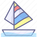 sailboat, sea, ship icon