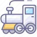 shipping, tourism, train, transport, travel icon