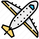 air, aircraft, plane, transport, transportation, vehicle icon