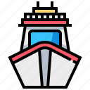 cruise, ship, transport, transportation, vehicle icon