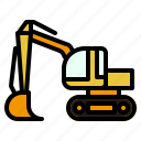 construction, excavate, machinery, transport icon