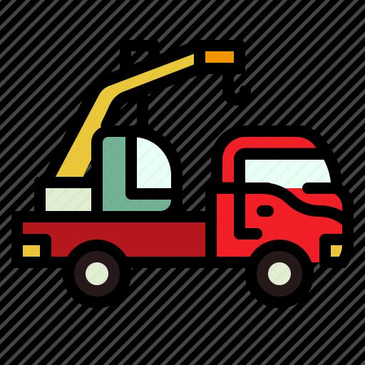 Crane, transport, truck, vehicle icon - Download on Iconfinder