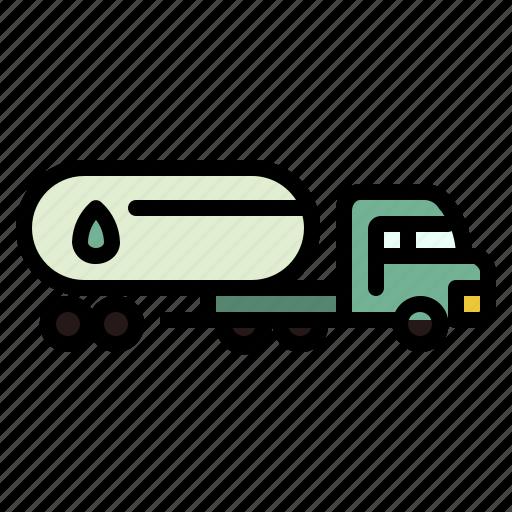 fuel, gas, oil, petrol, transport, truck icon
