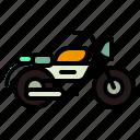 bike, moterbike, motor, motorcycle, sports, transport, transportation icon