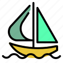 boat, sailboat, sailing, transport, transportation